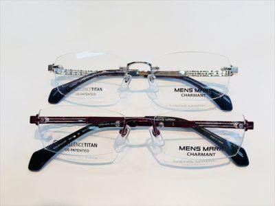 メガネの色と形による印象の変化