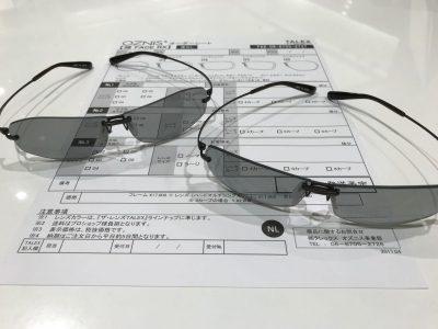タレックスのフチなしサングラス